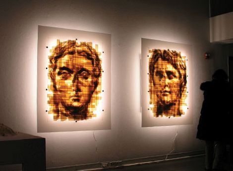 Packing Tape Art by Mark Khaisman