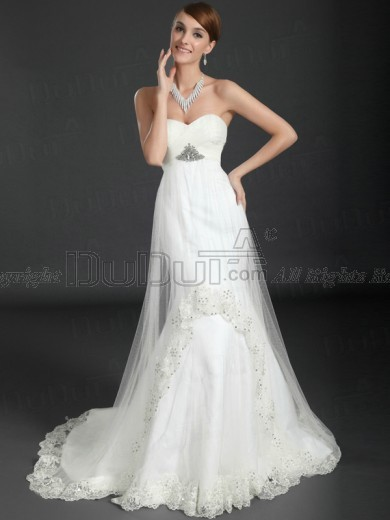Maternity Mermaid Wedding Dresses : Mermaid trumpet satin strapless sweetheart dropped zipper