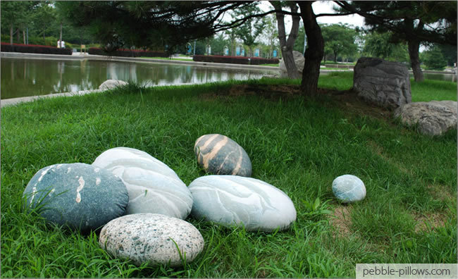 Stone pillows