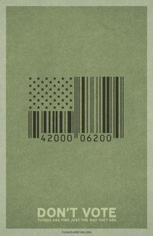 Don't Vote - Barcode Flag