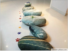 Mix Color River Rocks Living Stone Pillows « Living Stone Pillo