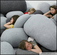 Dark Grey Living Stone Pillows « Living Stone Pillows, inspired